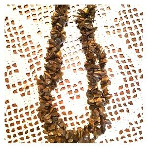 18 in. Tiger eye triple strand necklace